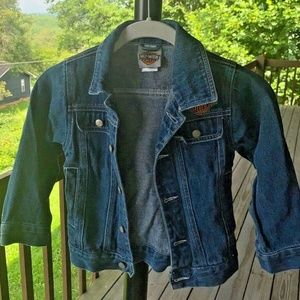 Vintage girls sz 4/5 Harley Davidson denim jacket